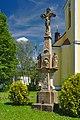 Kříž před kostelem, Horní Štěpánov, okres Prostějov (02).jpg