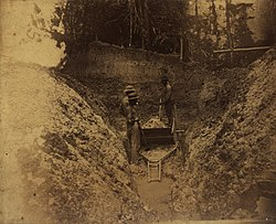 KITLV - 122775 - Washing of mud in Surinam, possibly in search of gold - circa 1900.jpg
