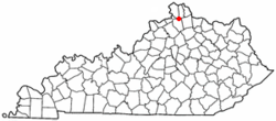 Location of Crittenden, Kentucky