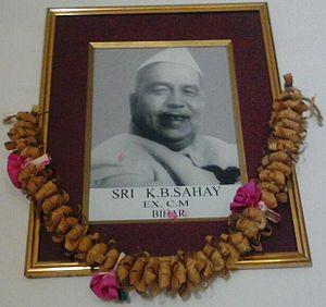Krishna Ballabh Sahay - Image: K B Sahay