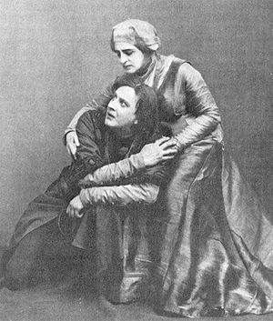 Vasily Kachalov - Kachalov and Olga Knipper in Hamlet (1911)
