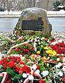 Kamień pamiątkowy akcja Kutschera 2014.JPG