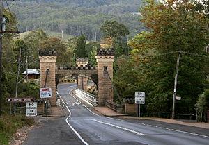 Kangaroo Valley, New South Wales - Image: Kangaroo Valley, Hampton Bridge 1