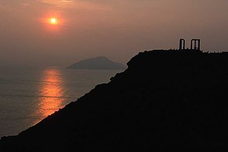 Sounion - Sunset at Cape Sounion.