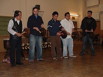 Agung - A Tiruray agung ensemble, called a karatung, demonstrated at San Francisco State University