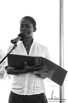 Lord at an environmental awareness literary event in Barbados, 2009