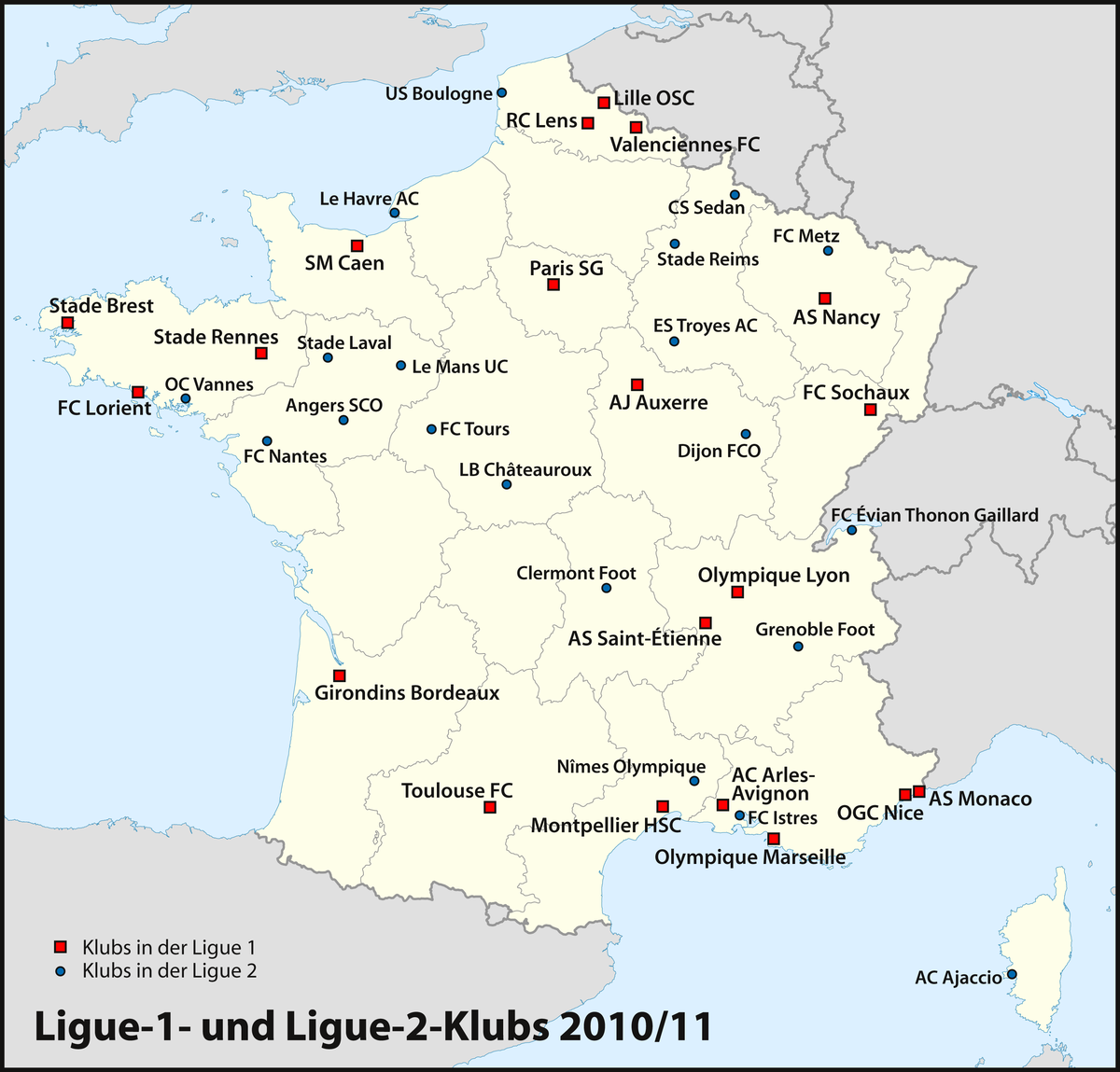 Ligue 2 Tabelle