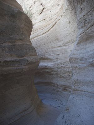 Kasha-Katuwe Tent Rocks National Monument - A narrow section of the slot canyon