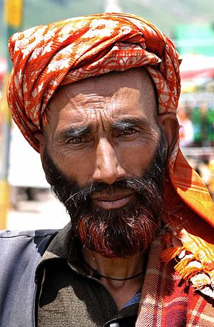 Culture of Kashmir - Gujjar man from Kashmir