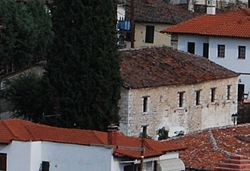 Kastoria Doltsa Panorama with Holy Apostles of Serviotis Church in the Centre Crop 01.jpg