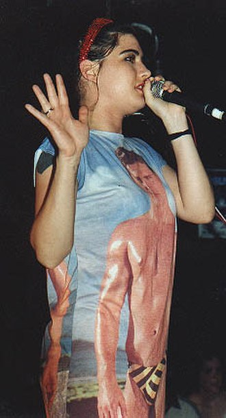 Kathleen Hanna - Kathleen Hanna performing with Bikini Kill, 1996