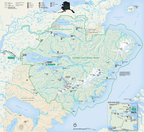 Katmai National Park and Preserve map 2006.09.png
