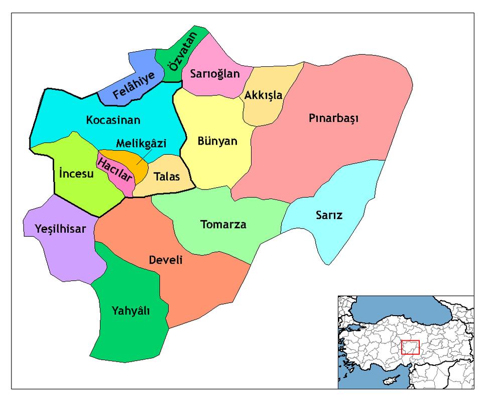 Kayseri districts