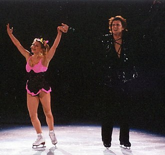 Artur Dmitriev - Kazakova and Dmitriev in a show in 2002.