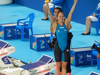 Swimming at the 2015 World Aquatics Championships – Women's 100 metre butterfly - Sjöström wins gold with a world record