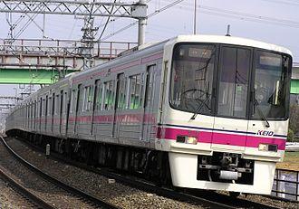 Keiō Line - A Keio 8000 series EMU on the Keio Line in 2007