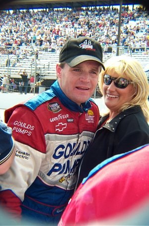 Kenny Wallace - Wallace and his wife Kim in 2001
