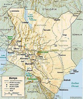 PxKenyareliefmaptownsjpg - Where is kenya located