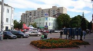 Khmelnytskyi Oblast - The beginning of city's main street, Proskurivska street in Khmelnytskyi