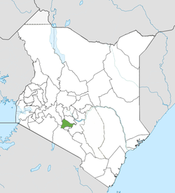 Location of Kiambu County (Green)