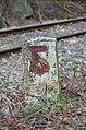 Kilometer stone 5 at Kaltenleutgebner Bahn 01.jpg