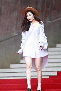 Kim Hyun-ah at the Seoul Fashion Week 2016 02.jpg