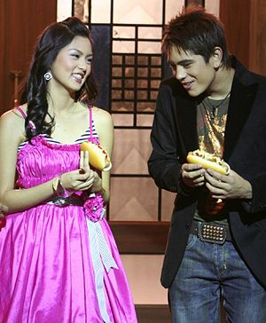 Kim Chiu - Chiu and Gerald Anderson in 2006 during a Jollibee commercial.