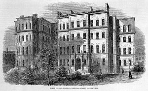 King's College Hospital - King's College Hospital in Portugal Street, Lincoln Inn Fields c1840s