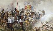 King Henry V at the Battle of Agincourt, 1415
