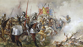 King Henry V at the Battle of Agincourt, 1415.png
