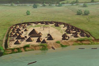 Coosa chiefdom - The protohistoric King Site on the Coosa River, occupied during the mid to late 1500s