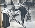 King Victor Manuel III with his tall wife Elena.jpg