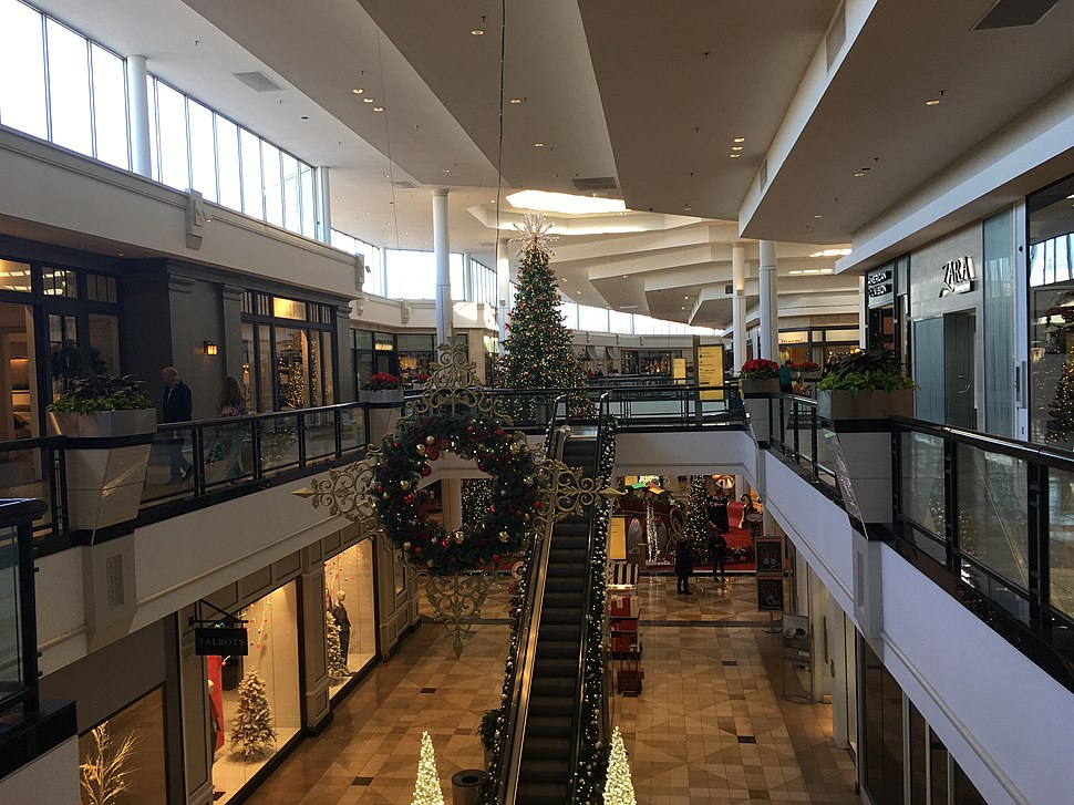King of Prussia Mall second floor near Bloomingdale's at Christmas