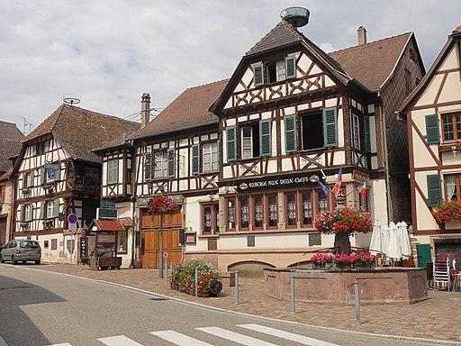 """Kintzheim n°54 rue du Général-de-Gaulle (Auberge """"Aux Deux Clés"""")"""