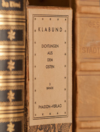 Klabund - The posthumous collection Dichtungen aus dem Osten (German, 1929)
