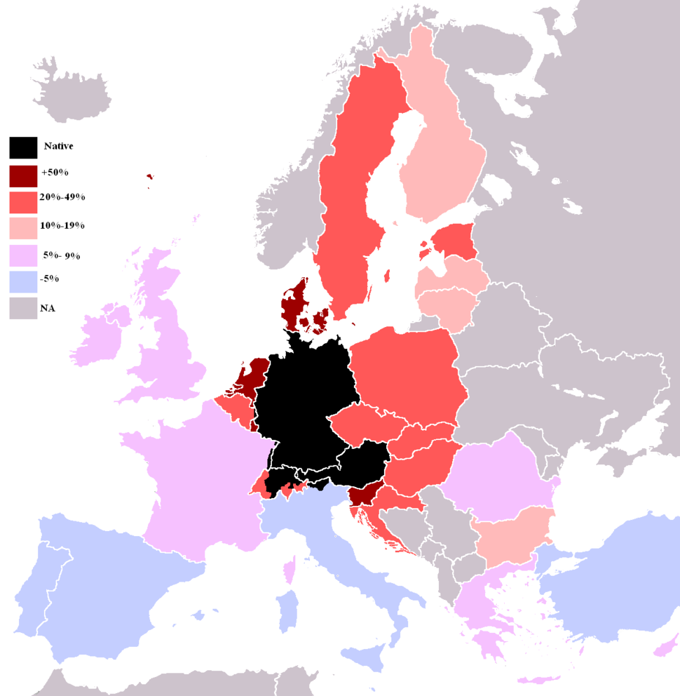 Knowledge German EU map