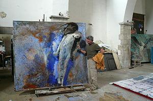 Alessandro Kokocinski - Kokocinski in his studio in Tuscania