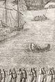 Kopparstick med åskådare i småbåtar som tittar på Karl X Gustavs begravning, 1660-talet - Livrustkammaren - 108756.tif