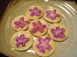 "Rhododendron mucronulatum - Korean flower pancake (""Hwajeon"")"