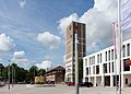 Kornwestheim 2016 Rathausturm Jubiläumsbrunnen Das K.jpg