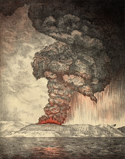 1883 eruption of Krakatoa an explosive volcanic eruption felt around the world