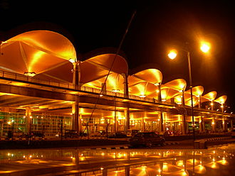 Kuching International Airport - Image: Kuching International Airport at Night
