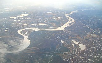 Kuskokwim River - Aerial photograph of the river