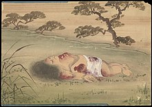 Kusozu; the death of a noble lady and the decay of her body. Wellcome L0070291.jpg