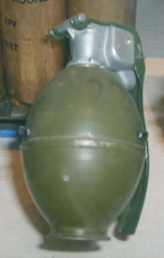 British ground forces in the Falklands War - A L2-A2 fragmentation grenade