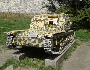 Tanks in the Italian Army - L3/35 on display at the Military Museum, Belgrade.