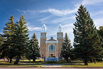 Block settlement - Cathedral in Gravelbourg
