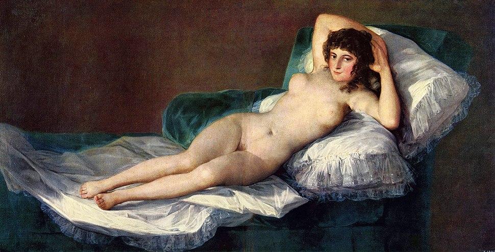 La Maja desnuda por Goya