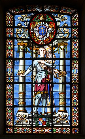 Emile Hirsch (painter) - Joan of Arc at La Rochelle Cathedral, painted by Hirsch.