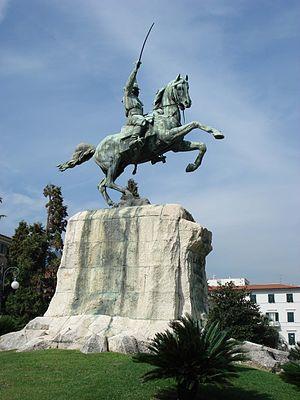 Equestrian statue representing Garibaldi, La S...